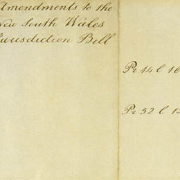 Detail of the amendments to the New South Wales Act 1823 (UK).