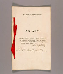 New South Wales Constitution Act 1855 (UK), cover