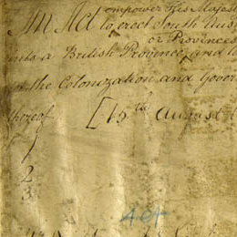 Detail from the title page of the South Australia Act, or Foundation Act, of 1834 (UK).