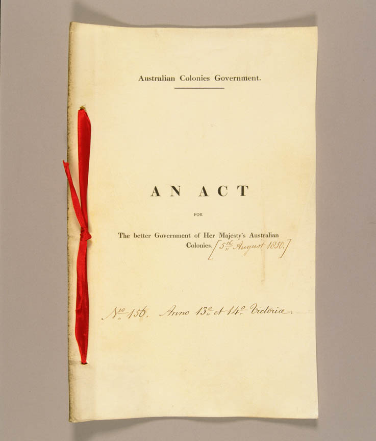 Australian Constitutions Act 1850 (UK), cover