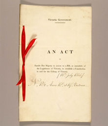 Victoria Constitution Act 1855 (UK), cover