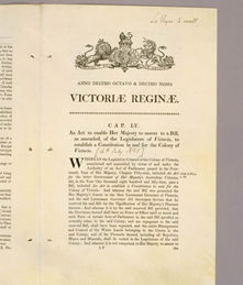 Victoria Constitution Act 1855 (UK), p425