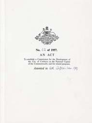 National Capital Development Commission Act 1957 (Cth), cover