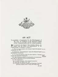 National Capital Development Commission Act 1957 (Cth), p1