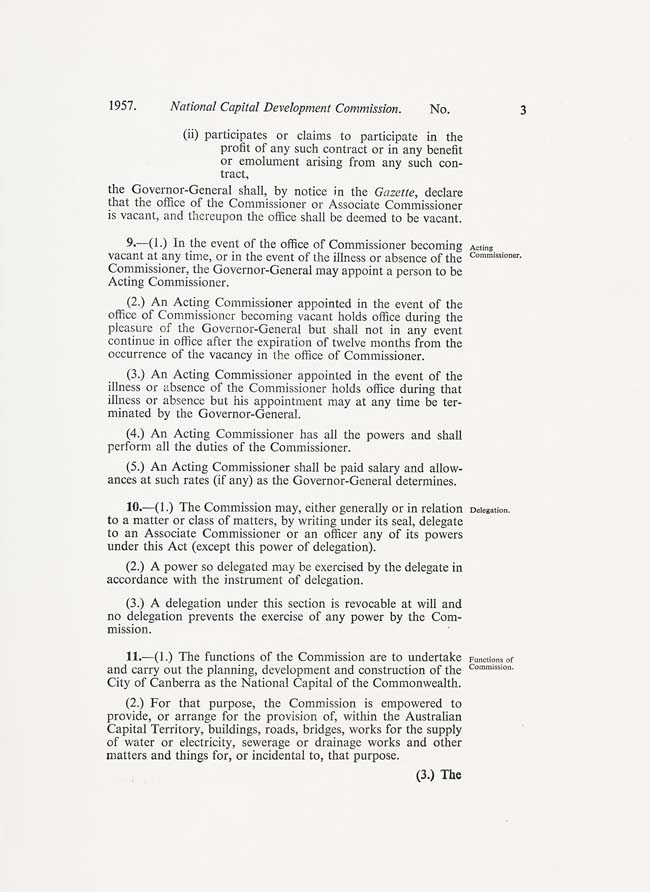 National Capital Development Commission Act 1957 (Cth), p3