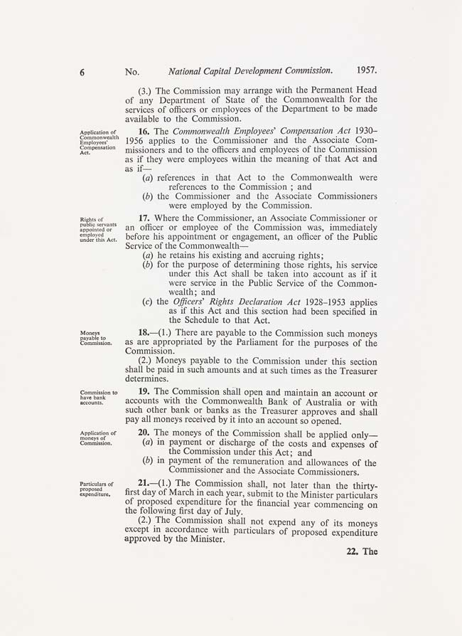 National Capital Development Commission Act 1957 (Cth), p6