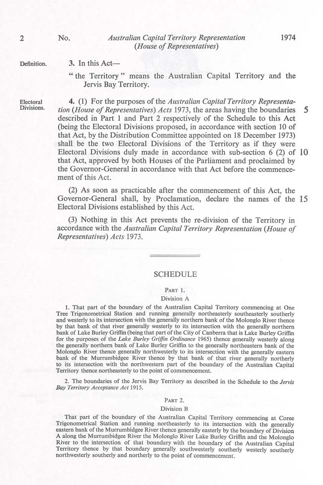 ACT Representation (House of Representatives) Act 1974 (Cth), p2