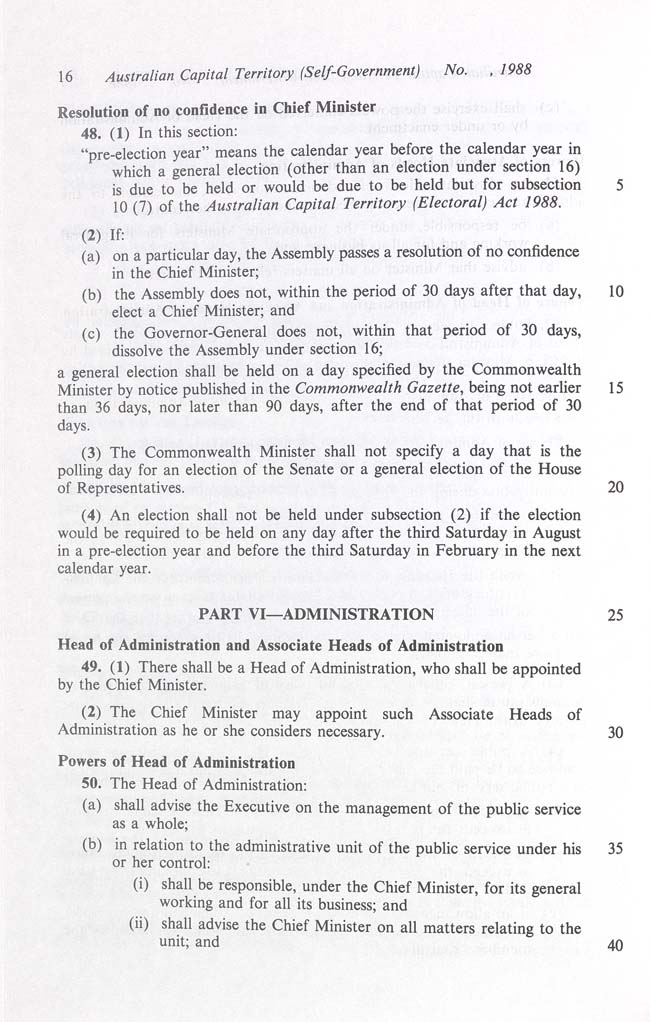 Australian Capital Territory (Self-Government) Act 1988 (Cth), p16