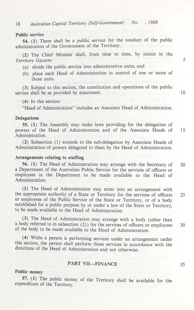Australian Capital Territory (Self-Government) Act 1988 (Cth), p18