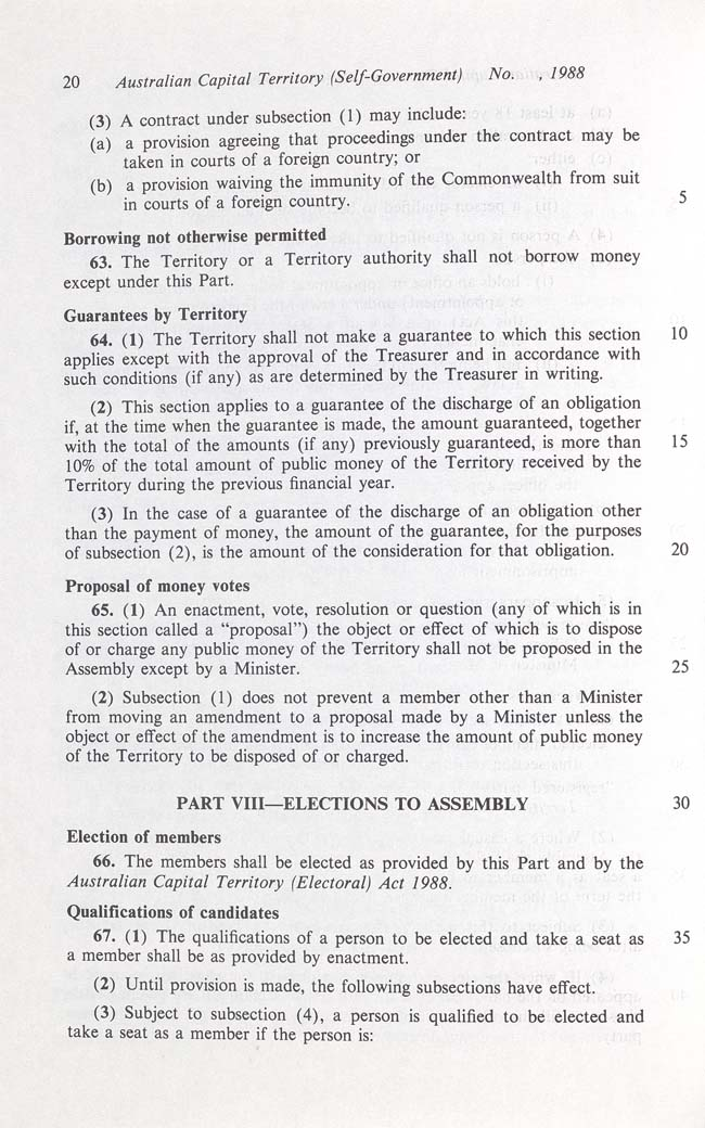 Australian Capital Territory (Self-Government) Act 1988 (Cth), p20