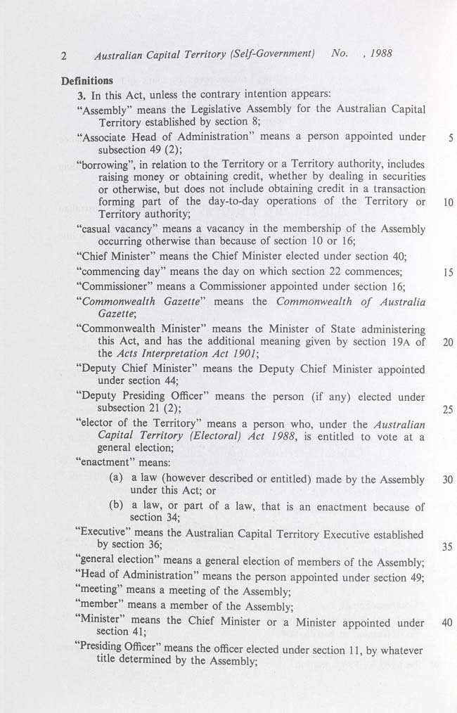 Australian Capital Territory (Self-Government) Act 1988 (Cth), p2
