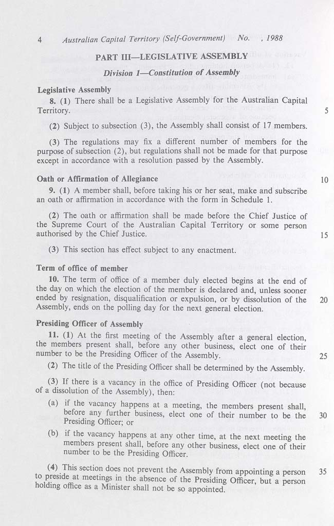 Australian Capital Territory (Self-Government) Act 1988 (Cth), p4