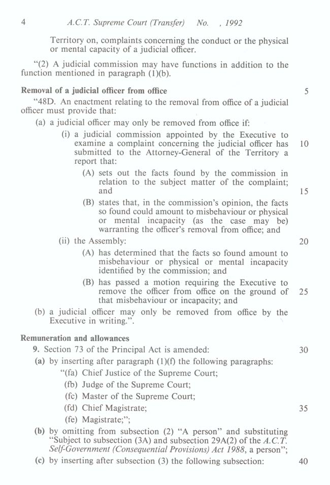 ACT Supreme Court Transfer Act 1992 (Cth), p4
