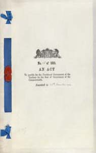 Seat of Government (Administration) Act 1910 (Cth), cover
