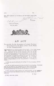 Jervis Bay Territory Acceptance Act 1915 (Cth), p1