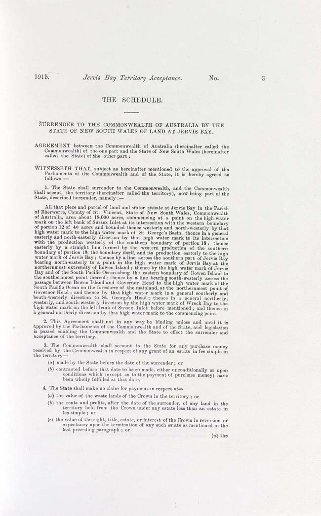 Jervis Bay Territory Acceptance Act 1915 (Cth), p3