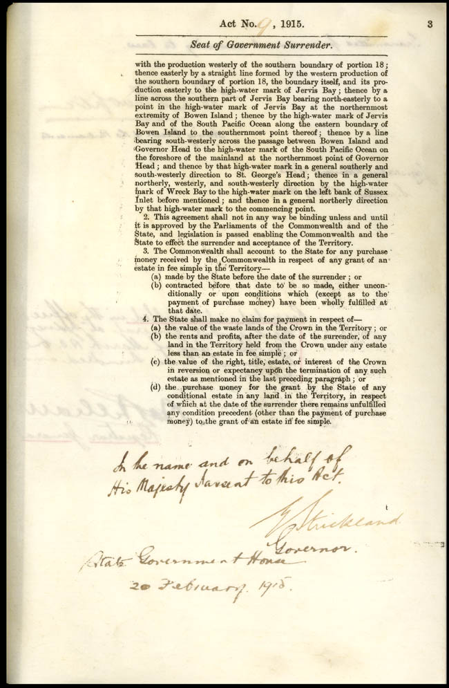Seat of Government Surrender Act (NSW) Act 9 of 1915, p3