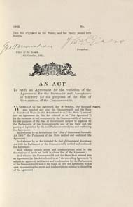 Seat of Government Acceptance Act 1922 (Cth), p1