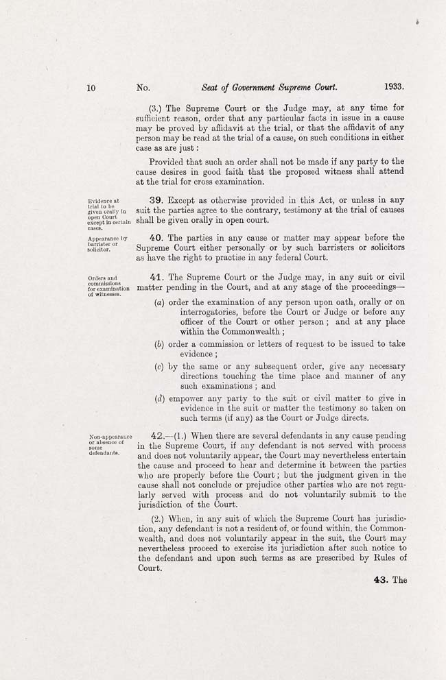 ACT Supreme Court Act 1933 (Cth), p10