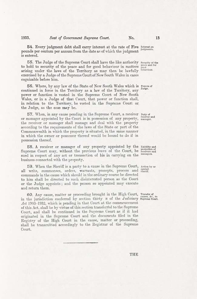 ACT Supreme Court Act 1933 (Cth), p13