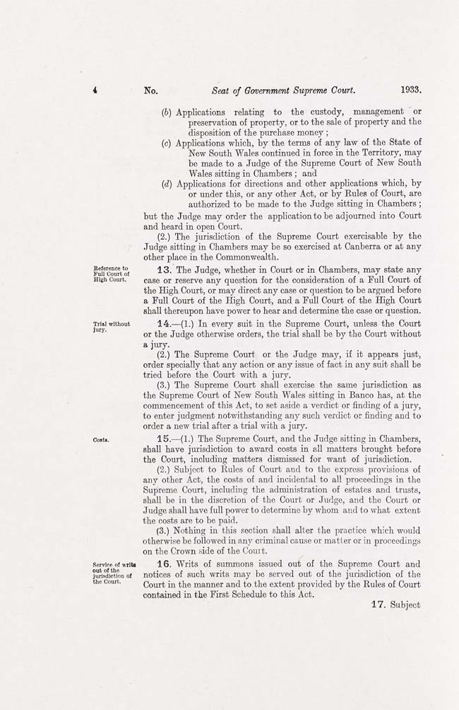 ACT Supreme Court Act 1933 (Cth), p4