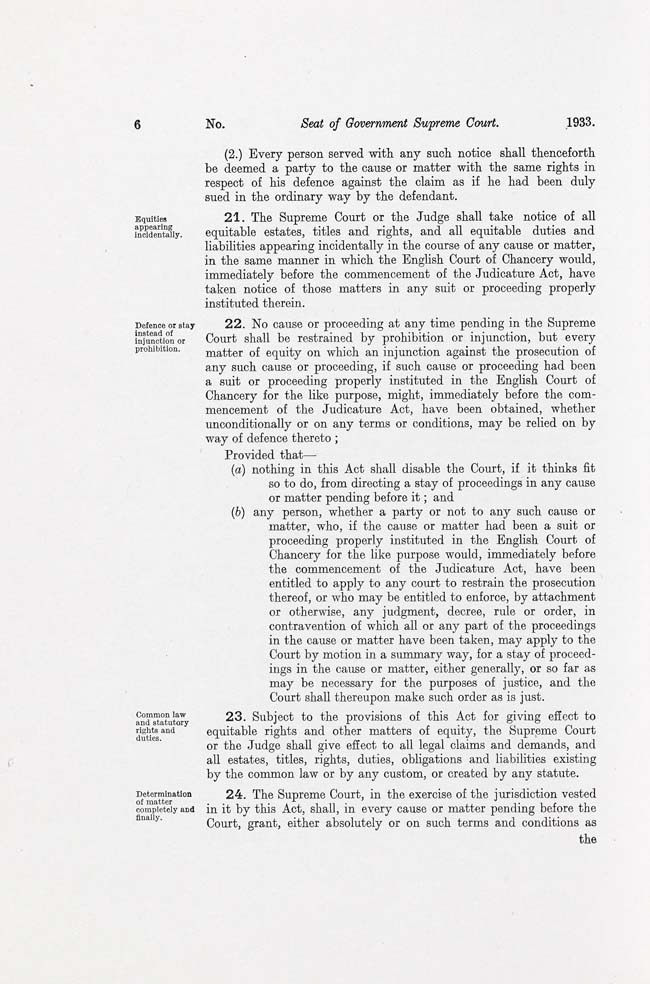 ACT Supreme Court Act 1933 (Cth), p6