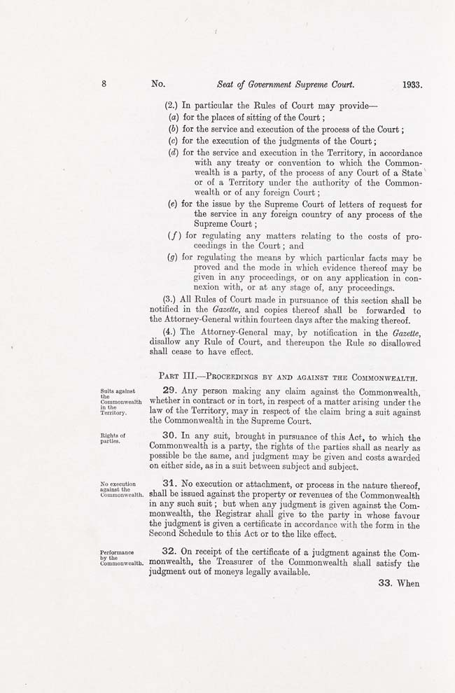 ACT Supreme Court Act 1933 (Cth), p8