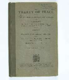 Treaty of Versailles 1919 (including Covenant of the League of Nations), cover