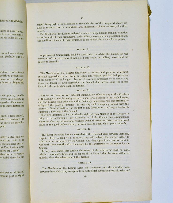 Treaty of Versailles 1919 (including Covenant of the League of Nations), p12