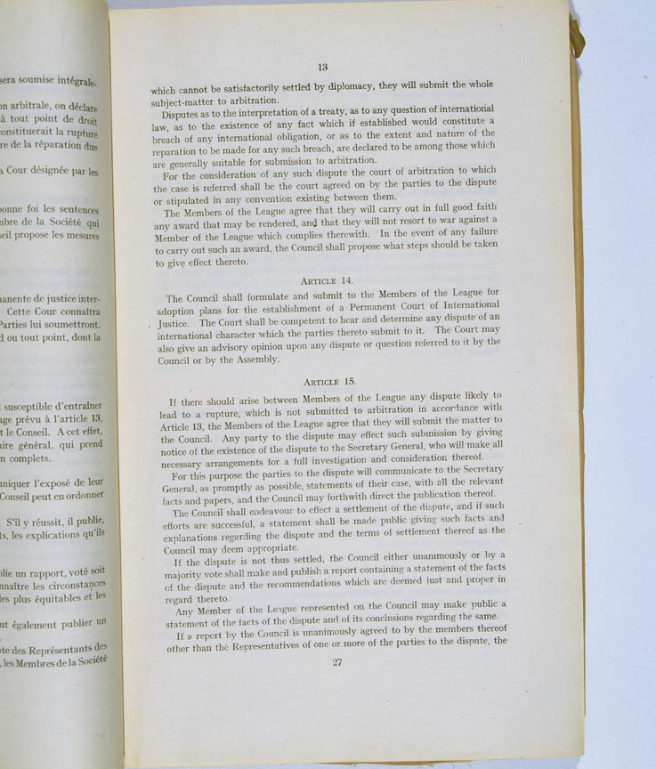 Treaty of Versailles 1919 (including Covenant of the League of Nations), p13