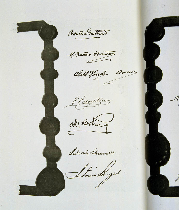 Treaty of Versailles 1919 (including Covenant of the League of Nations), signature8