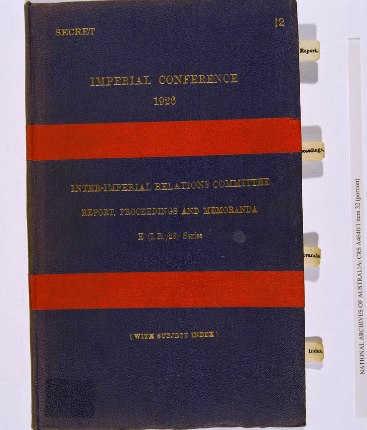 Balfour Declaration 1926 (Imperial Conference), cover
