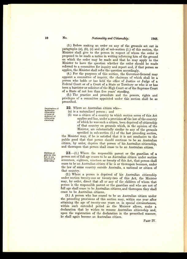 Nationality and Citizenship Act 1948 (Cth), p10
