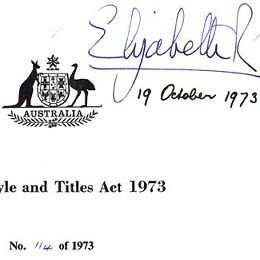 The signature of Queen Elizabeth II adorns this Act.