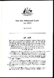 Seas and Submerged Lands Act 1973 (Cth), p1