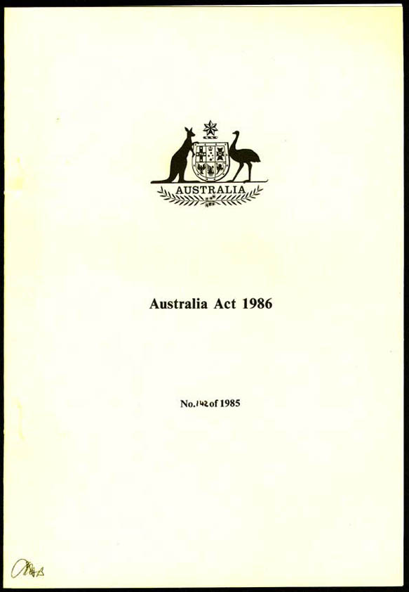 Australia Act 1986 (Cth), cover