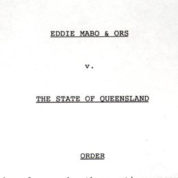 Detail from the cover of the Mabo v Queensland document.