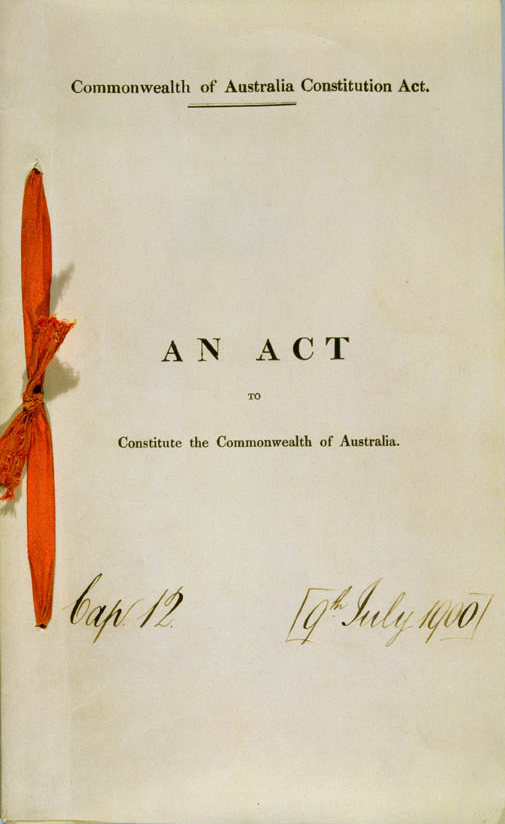 Commonwealth of Australia Constitution Act 1900 (UK), cover