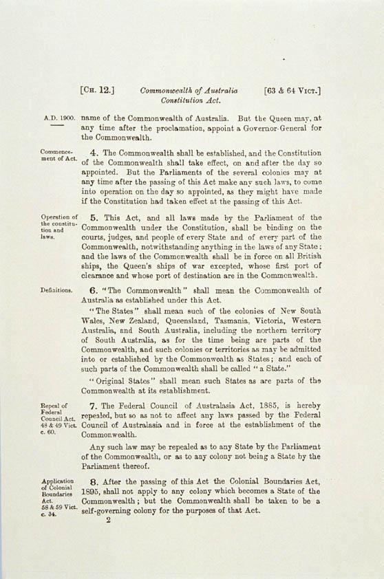 the commonwealth of australia constitution act 1900 pdf