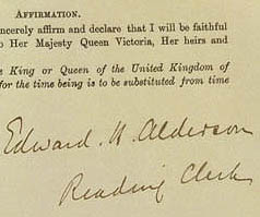 Detail from Commonwealth of Australia Constitution Act 1900 (UK)