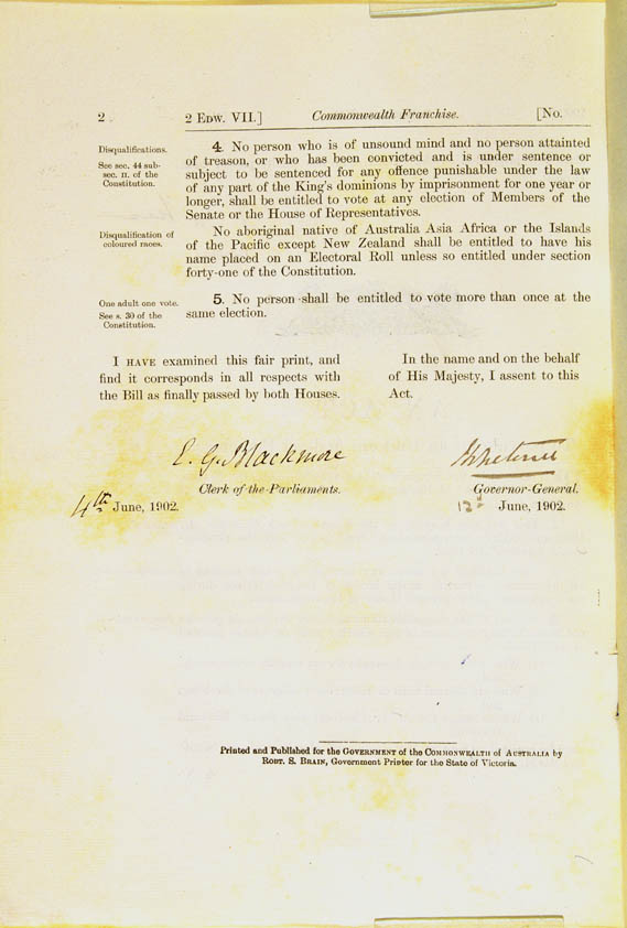 Commonwealth Franchise Act 1902 (Cth), p2