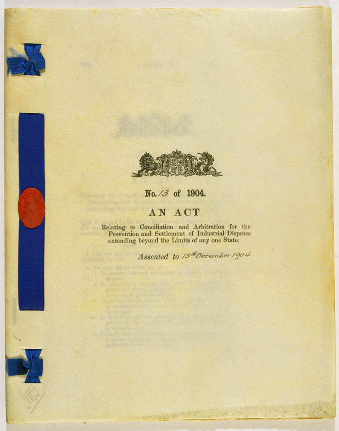 Conciliation and Arbitration Act 1904 (Cth), cover