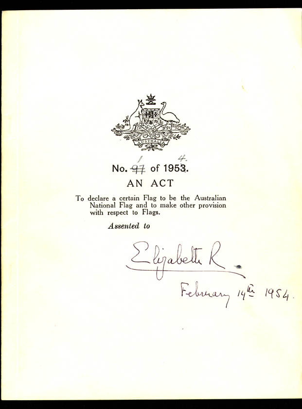 Flags Act 1953 (Cth), cover