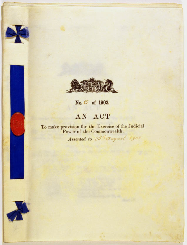 Judiciary Act 1903 (Cth), cover