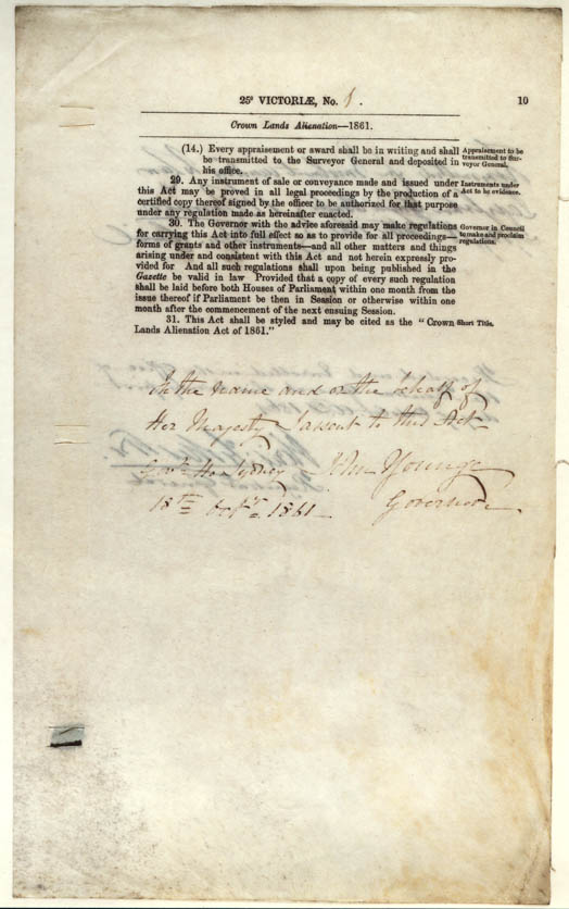 Crown Lands Acts 1861 (NSW), p10