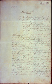 Governor Bourke's Proclamation 1835 (UK), p1