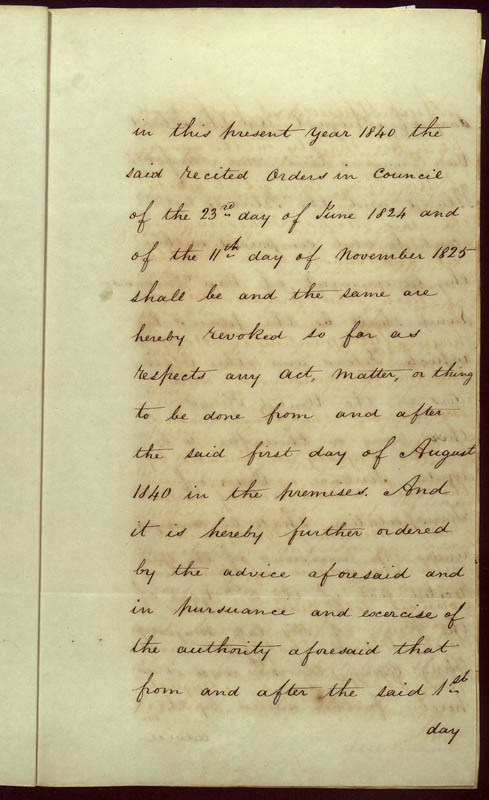 Order-in-Council ending transportation of convicts 22 May 1840 (UK), p11