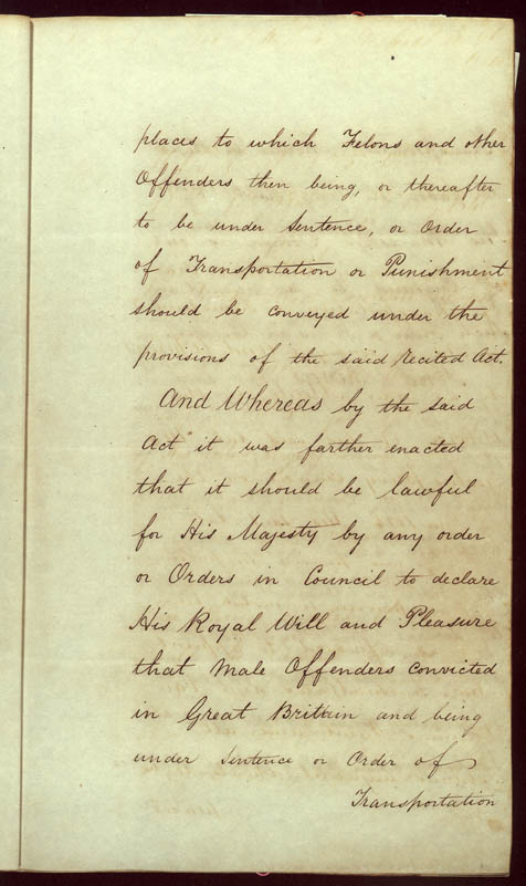 Order-in-Council ending transportation of convicts 22 May 1840 (UK), p3