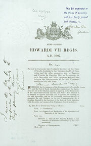 Northern Territory Surrender Act 1908 (SA), p1