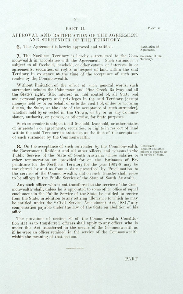 Northern Territory Surrender Act 1908 (SA), p3